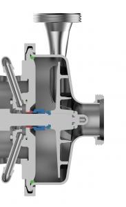 Hygienic Design der Gea Hilge Hygia-Pumpe mit gekapselter Gleitringdichtung. (Bild: Gea)