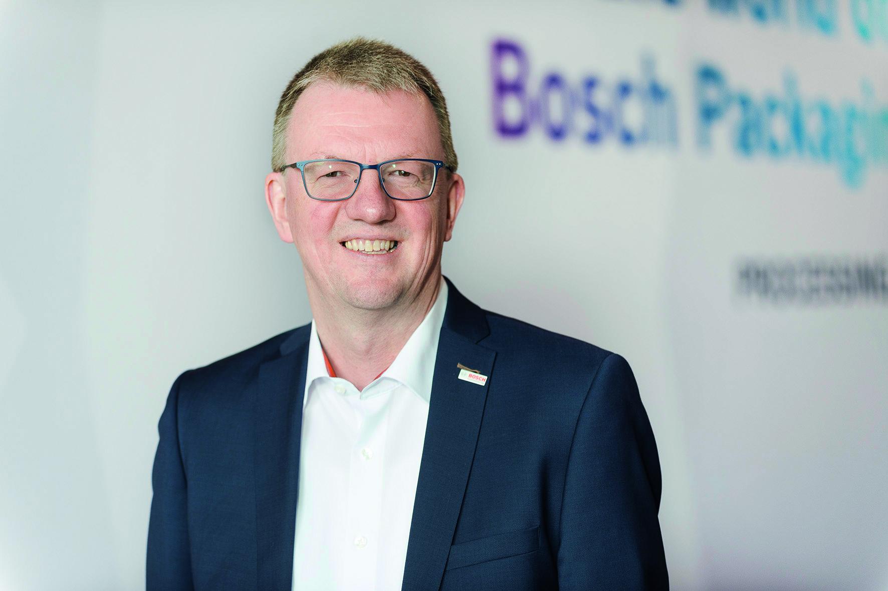 Uwe Harbauer, Mitglied des Bereichsvorstands,  Bosch Packaging Technology
