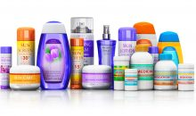Set of medical supplies, cosmetic and healthcare products