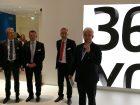 Siegfried Drost präsentierte für Uhlmann das rundum Sorglospaket für die Pharmaverpackung. Links daneben die Excellence-United Mitglieder Thomas Hofmaier (Glatt), Thomas Weller (Harro Höfliger), Markus Ströbel (Bausch+Ströbel) und Olaf Müller (Fette). Alle Bilder: Redaktion