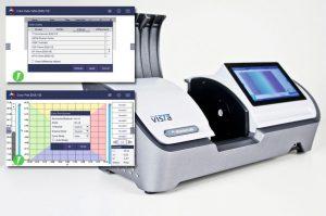 Die instrumentelle Analyse von flüssigen oder festen, transparenten Proben erfolgt mit einem Transmissionsfarbmessgerät.(Bild: Hunterlab)
