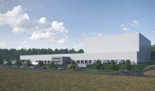 Der Logistikspezialist errichtet für Altmühltaler Mineralbrunnen ein Distributionszentrum mit Hochregallager, Leerpaletten-Annahme und Warenauslieferung. (Bild: SSI Schäfer)