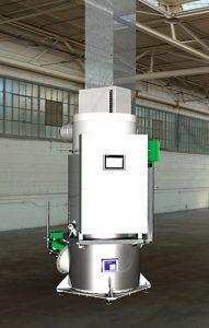 Thermische Nachverbrennung im Labor-Massstab fuer 2kg-h