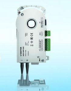 Der Volumenstrom-Kompaktregler vereint die regelungstechnischen Komponenten der Raumautomation in einem Gerät. Bild: Sauter