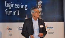 Dr. David Estapé, hier bei einem Vortrag auf dem 5. Engineering Summit, wechselt vom Biotech-Anlagenbauer M+W zur CRB Group. (Bild: Redaktion)