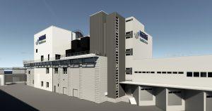 Das neue Produktionsgebäude wird sich U-Form um das bereits bestehende Werk legen. (Bild: Nestlé)