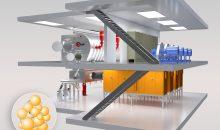 Platz 1: Glatt Ingenieurtechnik zeigte auf der Achema eine neue Kompaktanlage für kontinuierliche Agglomerationsprozesse und ein modulares Steuerungssystem, das leicht kundenspezifisch modifiziert werden kann. (Bild: Glatt)