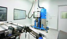 Automatische Absaugung von feinsten Stäuben, die in einer Tablettenpresse in der Pharmaproduktion entstehen. 8Bild: Alfred Kärcher)