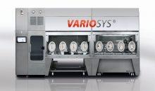 Beim Variosys handelt es sich um ein flexibles System für die Kleinchargenproduktion. Mehrere Komponenten können, je nach Anforderung, als Produktionslinie aneinander gereiht werden.