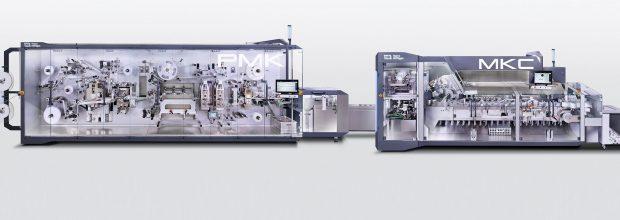 Die Sicherheitszuhaltungen werden an der PMK-Maschinenplattform für die Bahnverarbeitung mit angeschlossenem Kartonierer MKC eingesetzt. (Bilder: Schmersal)