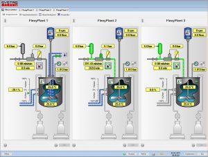Bild 1 User interface Hauptbildschirm