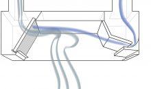 Strömungsbild in  einer Induktionshaube. (Bilder: Rentschler)