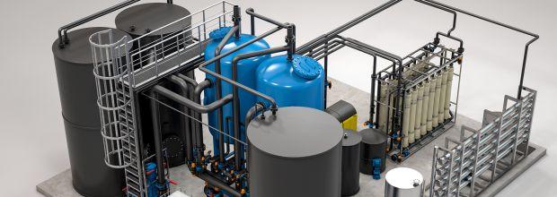 Bei der Wassernutzung in Molkereien gibt es viel Einsparpotenzial. Beispielsweise, indem Brüdenwasser aufbereitet wird, und wertvolles Frischwasser ersetzt. 8Bild: Envirochemie)