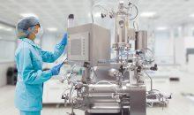 1: Ziel der Entwicklung der Mühlenbaureihe Dyno-Mill Pharma war ein Pharmamühlenkonzept welches durch eine modulare Bauweise flexibel an die Anforderungen der Arzneimittelhersteller angepasst werden kann. Im Bild: Dyno-Mill Multi Lab in CIP/SIP Ausführung. (Bild: WAB Group)