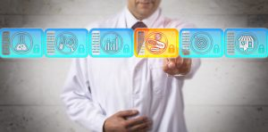 Researcher Selecting Specialty Drug In Blockchain