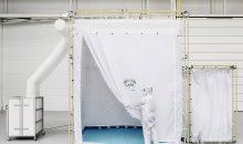 Die mobile Reinraumlösung Cape ist schnell aufgebaut und ermöglicht Luftreinheiten bis ISO Klasse 1. (Bild: Fraunhofer IPA / Rainer Bez)