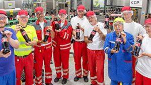 Coca Cola_Abfüllung 1-Liter-Glasmehrwegflasche_Deizisau