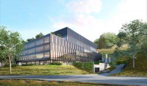 Das 15.700 Quadratmeter große Gebäude soll etwa 250 Mitarbeitern Platz bieten. (Bild: Merck)