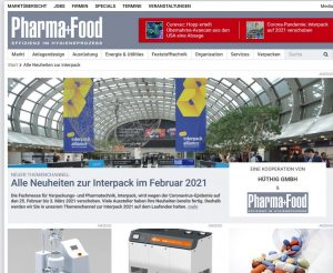 Screenshot des Themenkanals zur Interpack