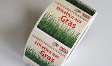 Etiketten aus Gras