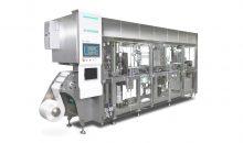 Wichtiges Merkmal des neuen Produktdesigns ist eine weiß hervorgehobene Interaktionszone – wie hier bei der TPU-Papierformmaschine.