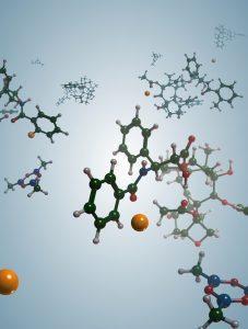 Der Cobaltkatalysator spaltet selektiv eine C-H Bindung. (Bild: Lutz Ackermann)