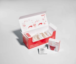 sippa besteht aus vielen unterschiedlichen Komponenten, die in einer Verpackung vereint und untergebracht werden mussten.