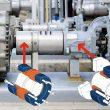 Typischer Einsatz von Schrumpfscheiben: Wellenkupplung WKL (links) und Außenspannsatz (rechst) für den Einsatz in schweren Pumpenantrieben. Bild: Stüwe / Shutterstock
