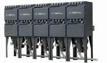 Anlage mit fünf ECR-Entstaubungseinheiten und automatischer Staubsammelanlage für HSE-Anforderungen. Bilder: TRM Filter